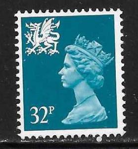 Great Britain Wales WMMH54 32p Machin MNH