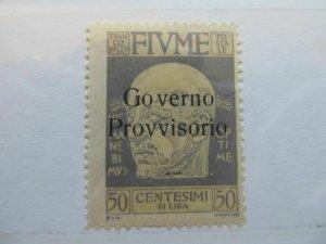 Italy Italien Italia Fiume 1921 50c fine MH* stamp A13P44F305