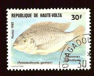 Upper Volta 629 30fr Fish used