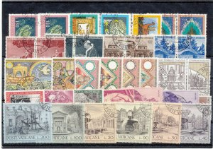 VATICAN Religion Art Used (Appx 35 Stamps) (NT 1432s