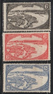 Brunei  SC 59-61  Mint  Hinged