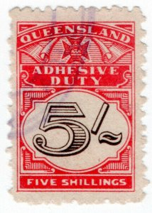 (I.B) Australia - Queensland Revenue : Adhesive Duty 5/-