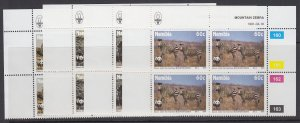 Namibia, Scott 694-697, MNH blocks of four
