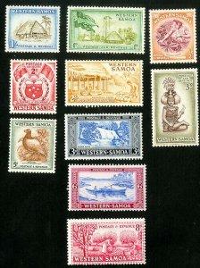 Western Samoa Stamps # 203-12 VF MLH