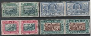 SOUTH AFRICA 1938 VOORTREKKER SET MNH ** PAIRS