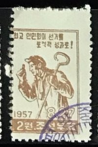 North Korea DPRK #116 CTO Imperf CV$0.75 Steelworker