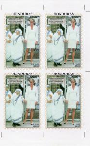 Honduras 1997 Sc#C1013 Diana Princess of Wales/ Mother Teresa S/S UNCUT Block 4