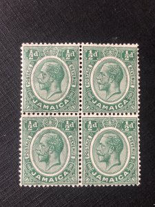 Jamaica Scott 101 MNH Block of 4