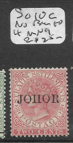 MALAYA JOHORE (P0501B) QV 2C  SG 10C NO BAR TO H  MNG