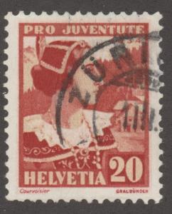 Switzerland stamp, Used, Scott# B71, lady, dress  #M330
