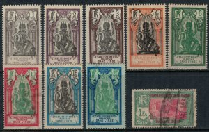 French India #80-5,7,9-90*/u  CV $4.05