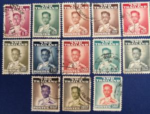 Thailand Scott # 283-288, 290-295 Used (A239)