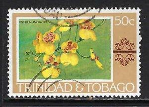 TRINIDAD & TOBAGO 287 VFU FLOWERS K652-1