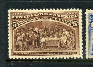 Scott #234 Columbian Mint Stamp NH (Stock #234-28)
