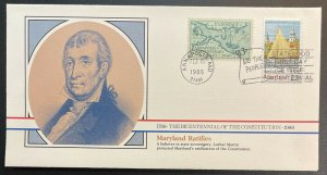 US #2342 FDC + #984- Bicentennial of Constitution 1787-1987 [BIC52]