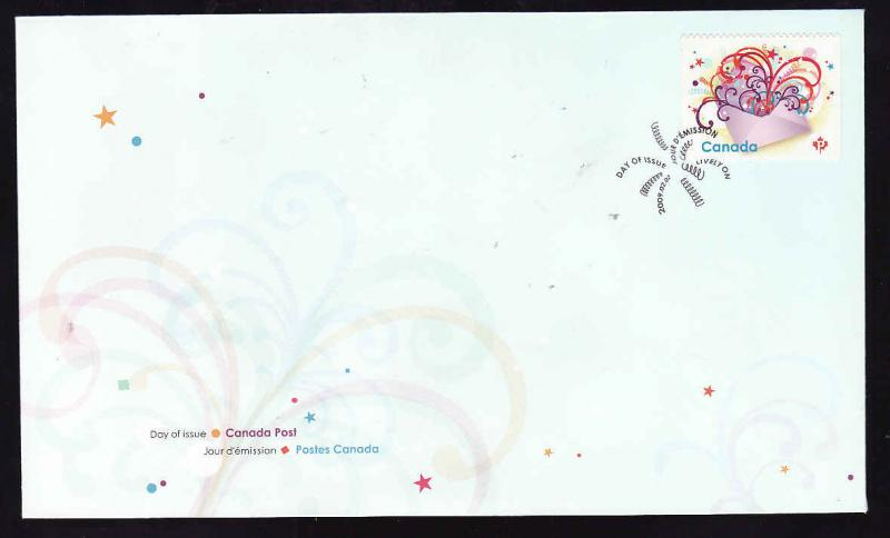 Canada-Sc#2314-stamp on FDC-Celebration in the mail-2009