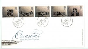 Great Britain 2001 FDC Occasions Silver Hallmarks Greetings Sc# 1948-52
