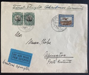 1931 Kimberly South West Africa First Christmas Flight Airmail Cover To Upington