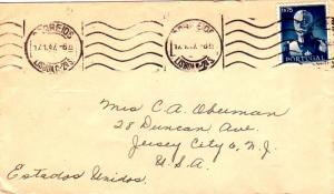 Portugal 1.75E Carmona 1947 Correios, Lisboa C.-2o. S. to Jersey City, N.J.  ...
