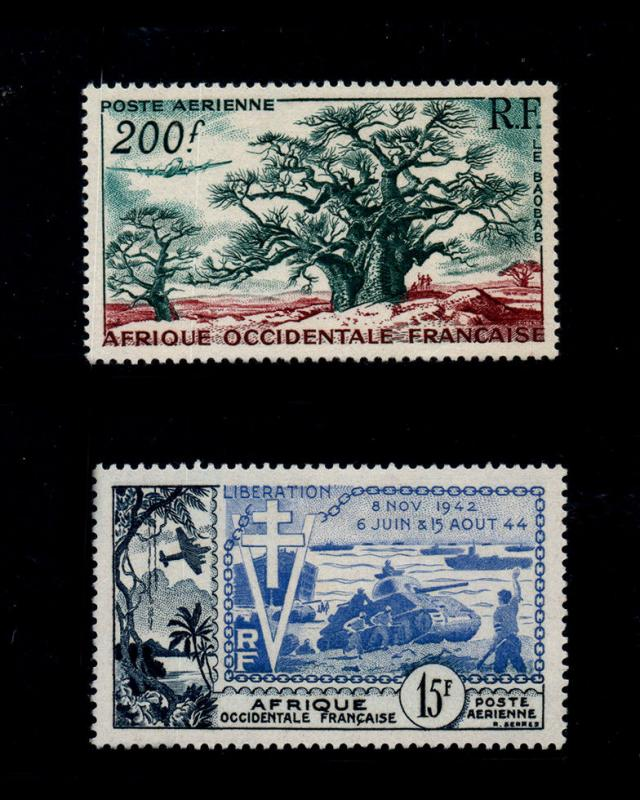 VSM:FRENCH W AFRICA 1954 OG,LH FRESH SCT # C20,17 $ 27 LOT # VSAFWAFR1954M-B90