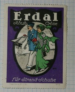 Erdel Shoe Polish for Beach Shoes German Brand Poster Stamps Ad