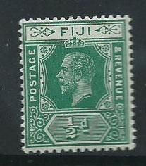 Fiji  GV  SG 126b  MLH Blue Green