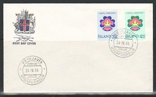 Iceland, Scott cat. 360-361. Boy & Girl Scouts issue on Agency First day cover.