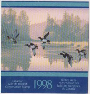 Canada USC #FWH14 1998 $8.50 Ringnecked Ducks - VF-NH Cat. $50.