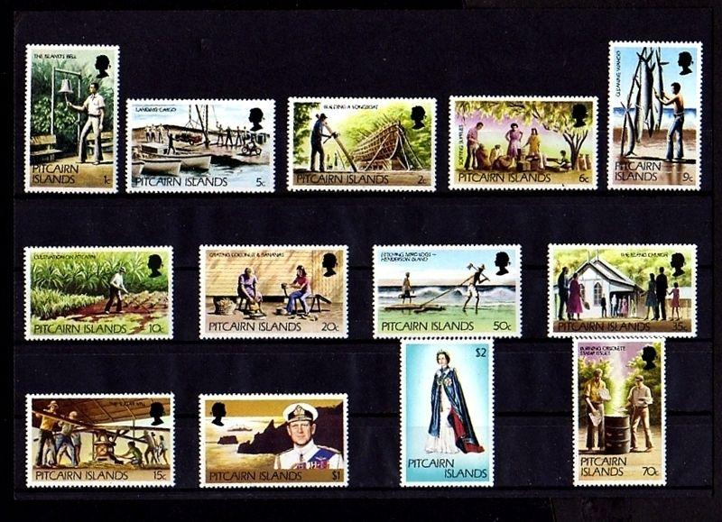 PITCAIRN IS - 1977/81 - QE II - PHILIP - SHIP - SCENES - COMPLETE - MNH - SET!