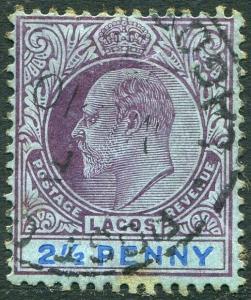 LAGOS-1905 2½d Dull Purple & Blue/Blue Sg 57 GOOD USED V31491