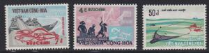 Viet Nam (South) # 408-410, Trawler Fishermen & Fish, NH, 1/2 Cat.