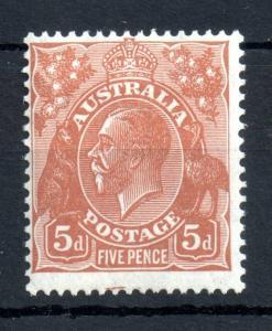 Australia KGV 1926 5d orange brown LHM #103A WS13962