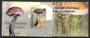 ANTIGUA SGMS4341/2  2011 MUSHROOMS   MNH