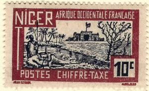 French Niger Postage Due (Scott J12) Mint F-VF hr...Buy before prices go up!