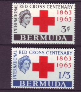J22007 Jlstamps 1963 bermuda set mh #193-4 red cross
