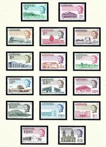 Antigua 167-82 MNH 1966 Definitive set