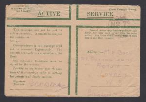Great Britain, 1919 Stampless Active Service mail, Field Post Office No. 79