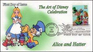 AO-3913–2, 2005, The Art of Disney Celebration, Pictorial Postmark, Alice in