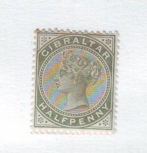 Gibraltar Sc 8 1887 1/2 d Victoria stamp mint