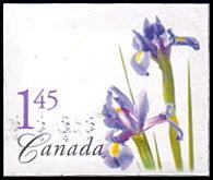 Canada # 2082 used ~ $1.45 Flowers - Dutch Irises, die cut, no perforations