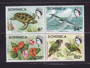 Dominica 297-300 Block of 4 Set MNH Various (F)