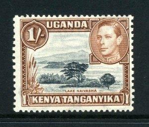 KUT 1938 KGVI 1/- perf 13x11¾ SG 145 mint. Kenya Uganda Tanganyika