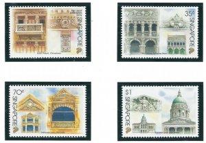 Singapore 743-46 MNH 1996 Architectural Styles (ap6901)