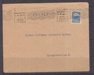 ESTONIA, 1920 cover, 2.50m., Tallinn to Finland.