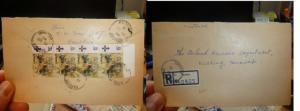 Sarawak 1974 Registered Cover Sarikei, 4 x 15c Butterfly (42beh)
