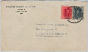 SPAIN  España - POSTAL HISTORY - COVER sobre to ITALY 1926
