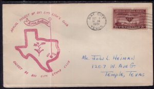 US Rice Festival Bay City Lion's Club,Bay City,TX 1951 Cover