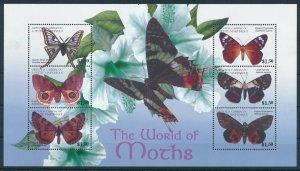 [108990] Carriacou & Petite Martinique 2001 Butterflies moths Mini sheet MNH