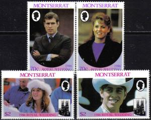 Montserrat 615-16 Mint Hinged Andrew/Fergie Pairs fm 1986