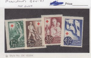J25889  jlstamps 1941 finland set mhr no gum #b44-7, all checked